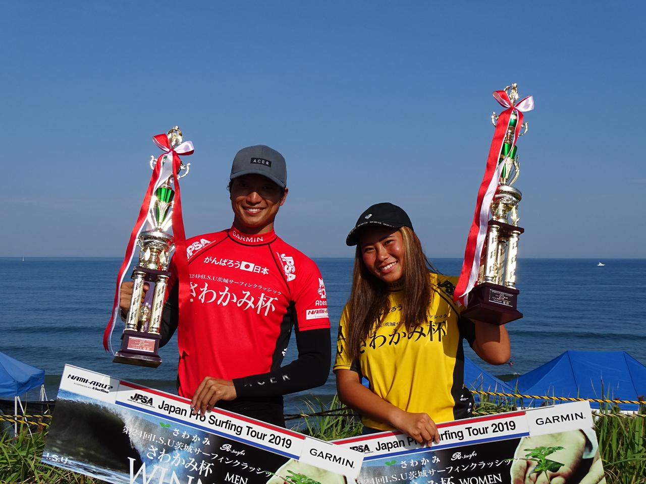速報!ショートボード第4戦の優勝は、松本カイと渡辺愛!
